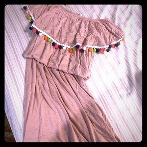 Pinkblush maternity maxi dress size M